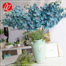 140960 New style stylish wholesale decorative artificial PU real touch blue dendrobium orchid