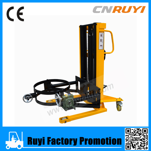 Manual forklift trucks hand oil drum lifter with low price