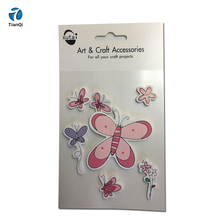 Reusable wooden stickers scrap book embellishment wood confetti for promotional gift party favor