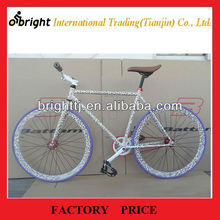 Hot selling leopard paint Fixed gear bike,700cx23c,single speed