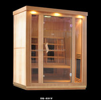3 Person Indoor Dry Steam Sauna Room With Starlight (ISO/CE/TUV/FSC/RoHS)