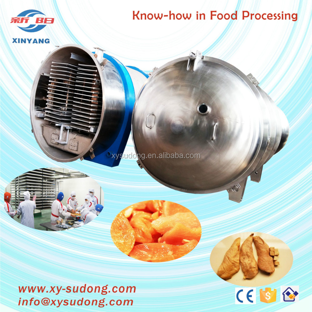 meat freeze drying machine with 2000kg/batch drying capacity