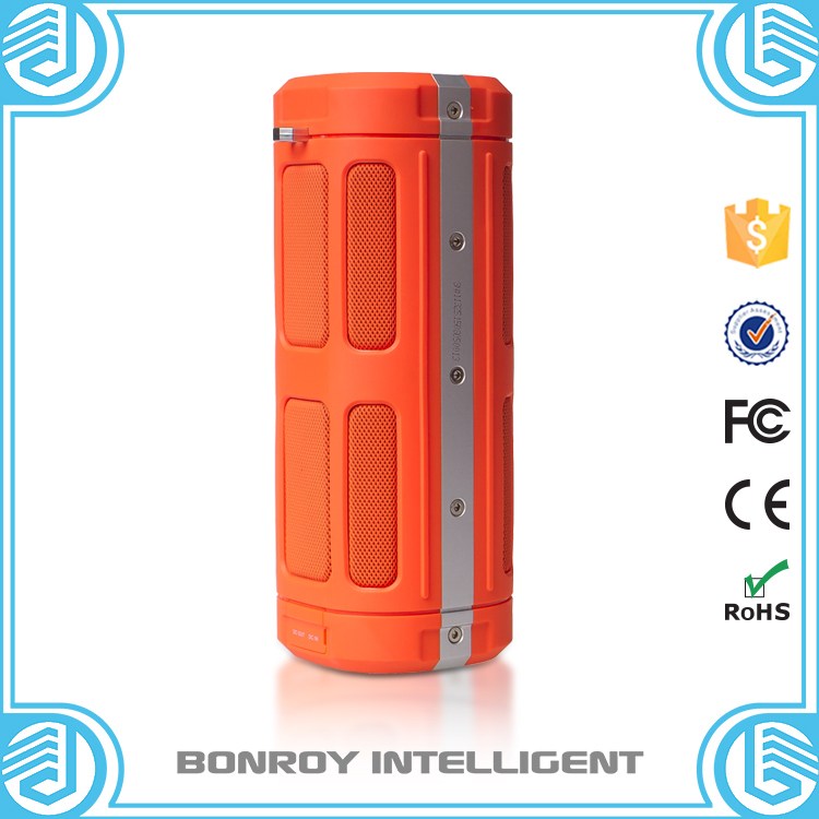 2015 new products 6000 mAh 30 hours play waterproof bluetooth speaker as portable power bank