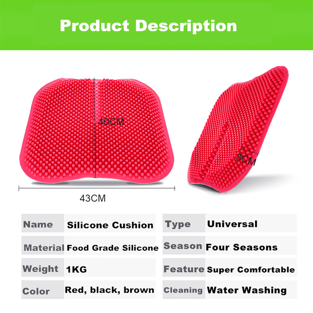 Cool memory silicone car seat cushion with massage function