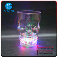 Light up Cola Glasses Flashing Blinking LED Cups Barware Bell Soda Glass Pop Skullcandy led cup