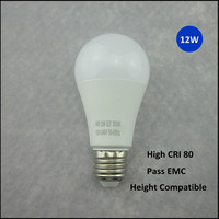 High brightness energy saving 12w e27 dimmable led light bulbs