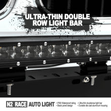 N2 RACE AUTO Super slim waterproof curved 50 inch 288w 4x4 offroad 12 volt led light bar double row for sxs utv 4-wheeler
