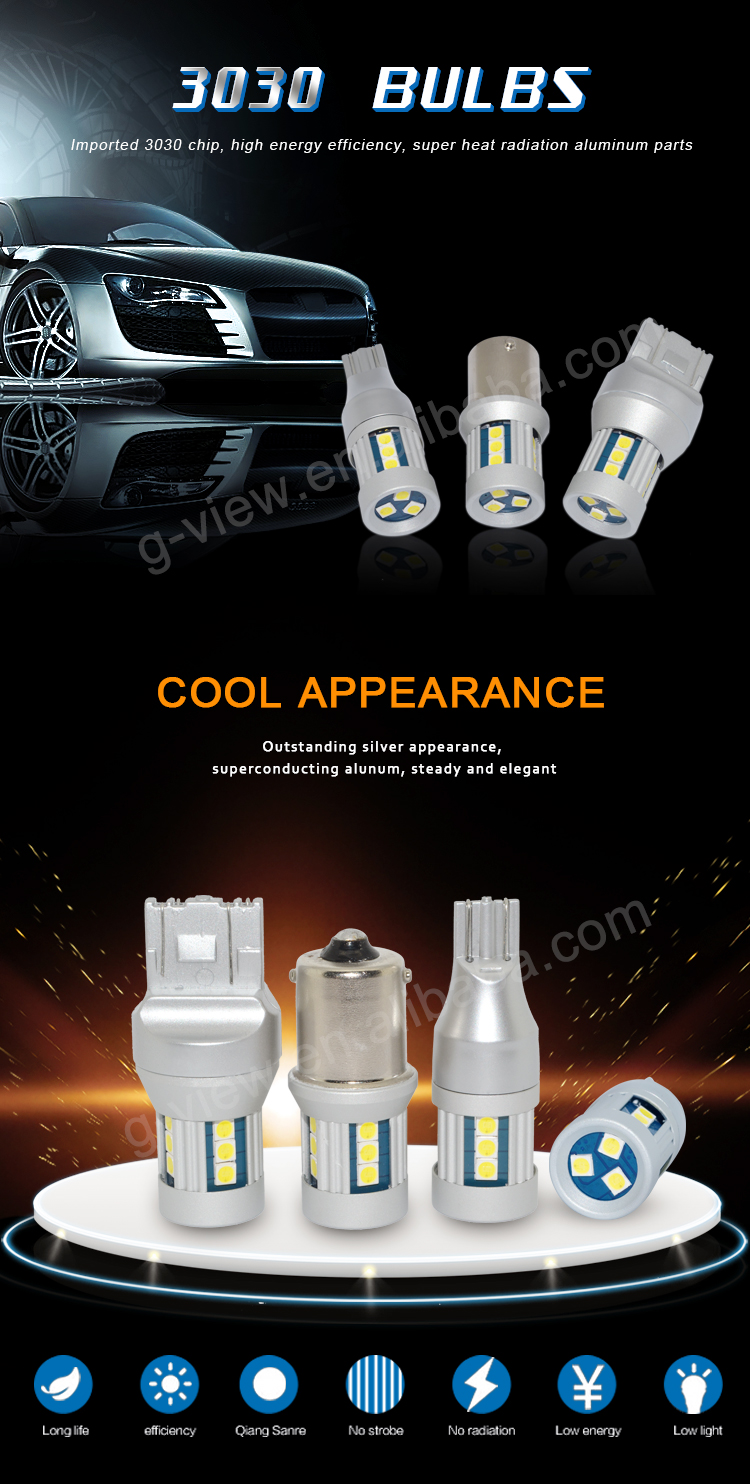 China car accessories led wholesale t15 15smd 3030 W16W 921 car led bulbs 12v 24v car lights led for led auto reverse light