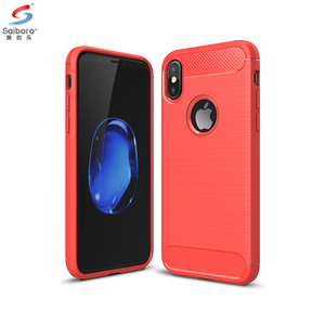 SAIBORO wholesale brush tpu carbon fiber phone case for iphone 6 7 8 9 x, carbon fiber cover for iphone x 8 7 6 5 tpu case