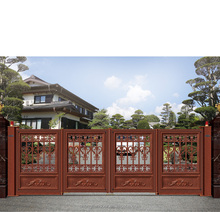 Home automatic wrought iron entry gate