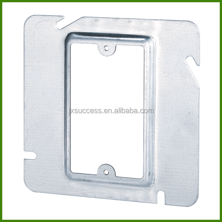 Square Electrical Metal Outlet Box Cover