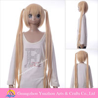 New arrival quality blonde cosplay wig ponytail Karneval TSUKUMO