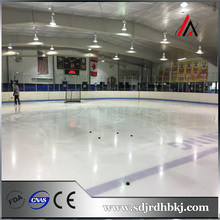 Ice hockey shooting rink skating plastic boards / barrier / fence