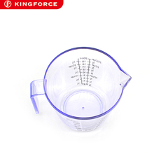 50ml ~ 600ml Transparent plastic PS measuring cup with spout and scale KF620021