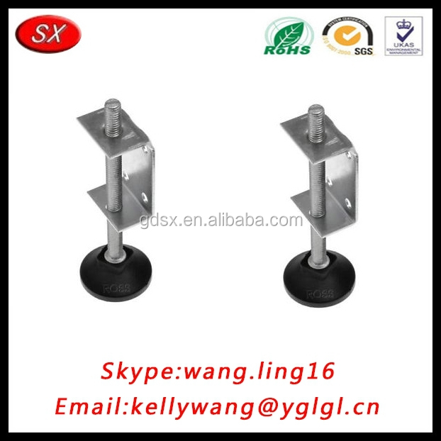 China manufacturing adjustable leg levelers, self leveling feet furniture hardware fittings