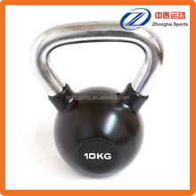 chrome handle rubber coated kettlebell manufacturer