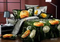 100 cotton 3d reactive printing king/queen size bed qulit duvet cover set