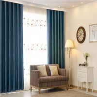 Multiple colors blackout curtains blind fabrics for living room