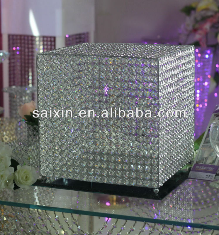 Beautiful wedding decoration crystal money box buy for How to decorate a money box
