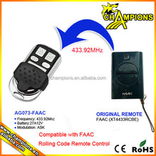 433 MHz Rolling code control remoto compatible con FAAC