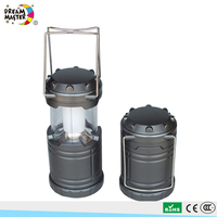 3AA Battery Powered 1W Telescopic Outdoor Lantern Portable Flexible LED Camping Light