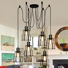 Vintage industrial fairy falls to pieces wrought iron chandeliers pendant light with edison bulb hot new products for 2015
