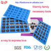 6 Different Shape 30 Caves Fashion Food Grade Silicone 3d Chocolate Mould With Mold Factory