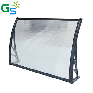 5.5Mm Pc Hollow Sheet Plastic Frame Bracket Polycarbonate Awning Canopy For Outdoor Awnings