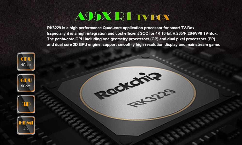 Kodi Quad Core Rockchip RK3229 1G 8G Best Cheap Android 6.0 Stream Smart 4K Ultra Android TV Box Eny A95X R1