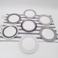 nice modern design custom porcelain flat dishes for wedding and pizza plate
