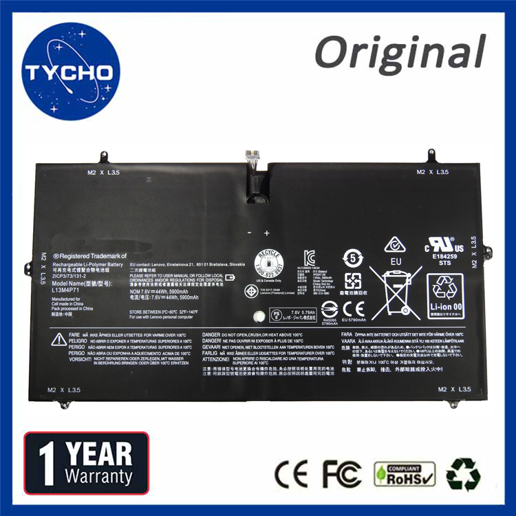 7.6V 5900mAh 44Wh New L13M4P71 Battery for Lenovo Yoga 3 Pro 1370 Series Laptop Battery