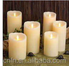Led candle wholesaler in China, moving wick flameless candle for cemeteries