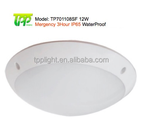 Led IP65 Emergency light 12W-3Hour Ceiling Mount 12W-3Hour Battery Backup Ceiling Light