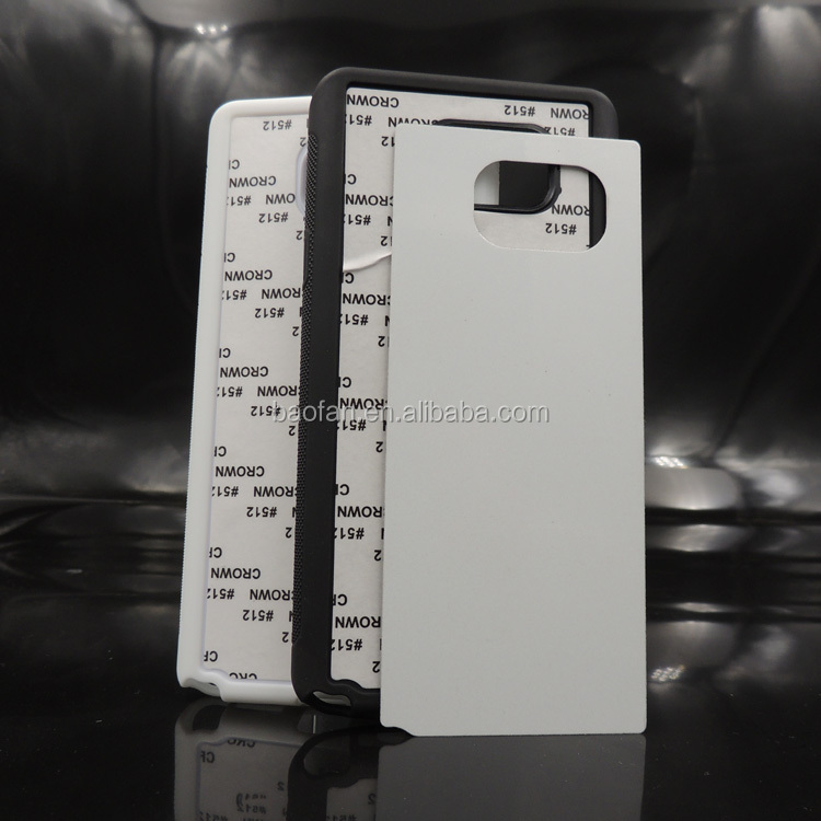 Sublimation TPU case with aluminum metal sheet for note 5