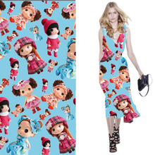 Custom-made Printed Mull Kawaii Cartoon Cotton Fabric For Children Clothing