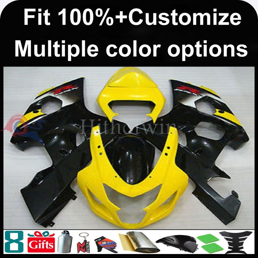 Manufacturer INJECTION MOLDING Fairing Fairing for Suzuki GSXR600/750 2004 2005 GSXR750 K4 motorcycle cover red flames