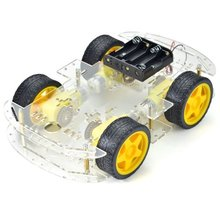 4-wheels Robot Smart Car Chassis Kit with Speed Encoder