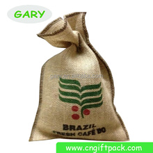 Custom Printed Small Jute Coffee Bean Gift Packaging Pouches Bags