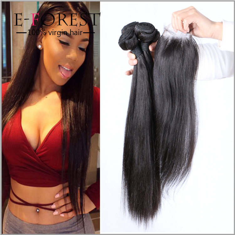 best selling products silky straight human hair bundles with 4x4 closure grade 8a brazilian hair weaves