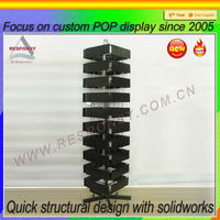 Factory price post card metal floor display stand