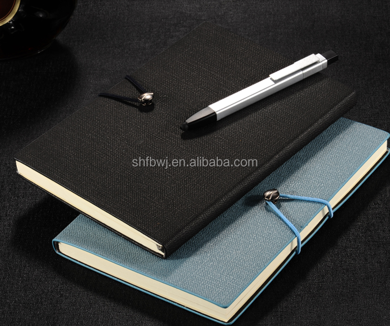 pu leather bound notebook cover with embossing