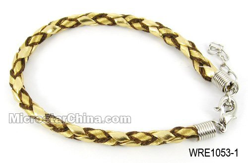 Woven leather cord bracelet
