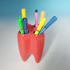 High Quality Tooth Shaped Ceramic Pen Stand wholesale,Cheap Ceramic Pen Contain ,Pencil Holder