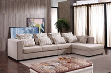 Wholesale fabric curved rexine combination sofa