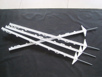 electric fence equipment plastic post pigtail post for polywire