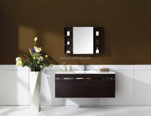Wall mounted bathroom vanity set with ceramic top