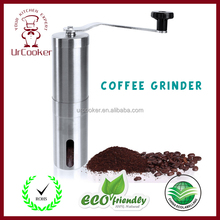 Ceramic Burr Manual Coffee Grinder - Portable Stainless Steel Conical Coffee Mill with Hand Crank