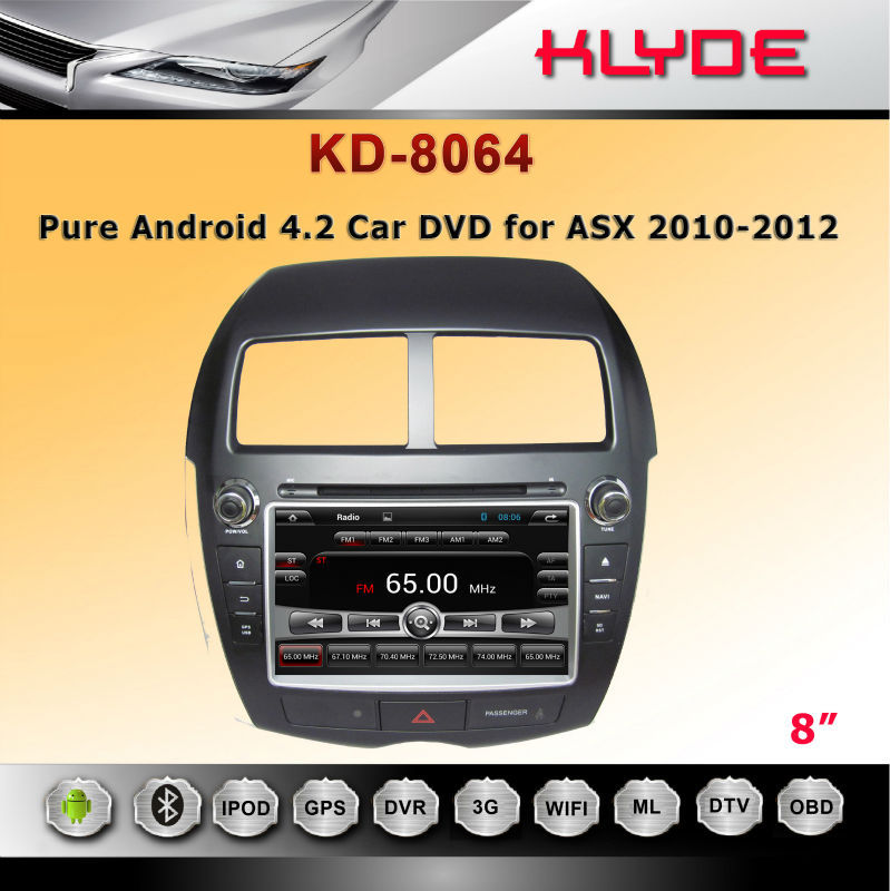 special 2 din GPS 3G BT Radio AUX IN car dvd special for ASX 2010-2012