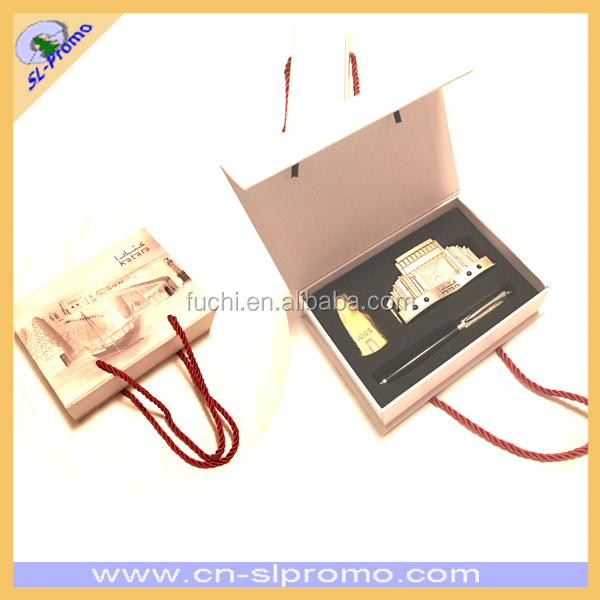 PU Hang Tag with TSA Lock In Gift Box Travel Gift Set