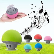Cute Portable Mushrooms Sucker Waterproof wireless Bluetooth Speaker Mobile Phone Car Mini speaker